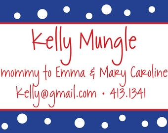 "Polka Dot ""Mommy Of..."" Cards- Mommy Calling cards"