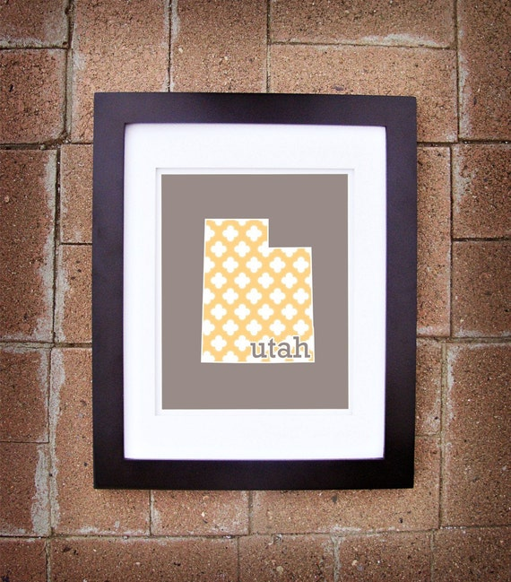 State Prints - Utah (Version Two) - 8x10 Printable Art