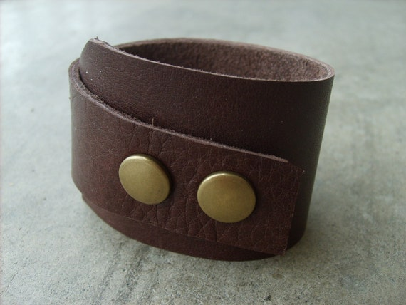 Handmade Leather Cuff -- ON SALE