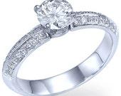 Diamond Engagement Ring White Gold or Yellow Gold Diamond Ring