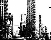 Fine Art Photography, Flat Iron Building New York City, Photo on Canvas, 20x24 Print