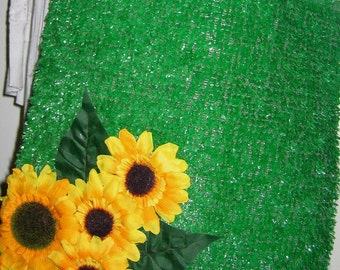 Astroturf Messenger bag with sunflowers