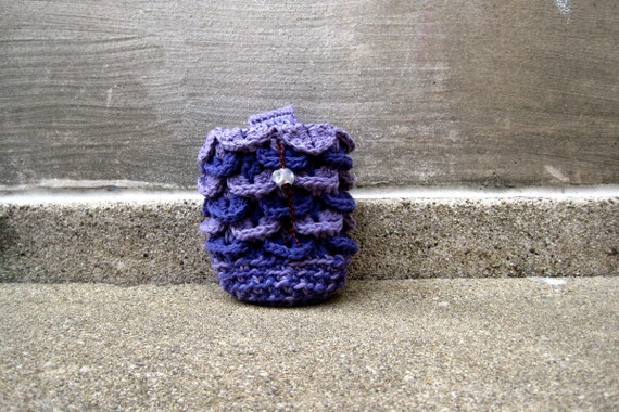 PETALS no.1  - crocheted rock climbing chalk bag - ready to ship