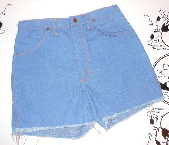 NOS Vintage 70s Surfer Girl Shorts Cut off Denim Daisy Dukes