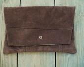 leather diaper clutch - anna