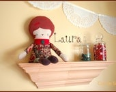 Sale! 30% off! Laura: eco-friendly retro doll made from upcycled fabrics