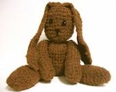 Crochet Plush Brown Bunny Rabbit Bamboo Yarn- Valerie