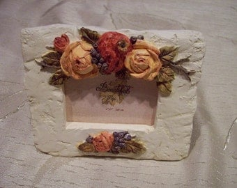 Small  picture frame with fall roses  2 x 3  by FIGI