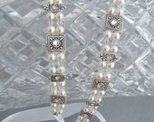 Silver and Crystal Swarovski Headband Ribbon