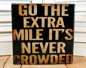 Inspirational Canvas Block Go the Extra Mile - 5x5