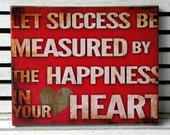 Success is Measured Inspirational Canvas Wall Hanging - 8x10