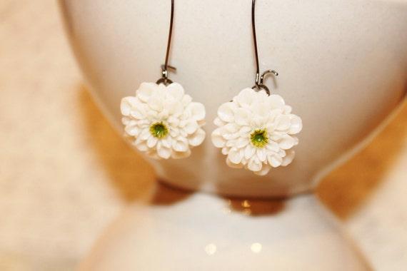 Adeline Earrings - White Green