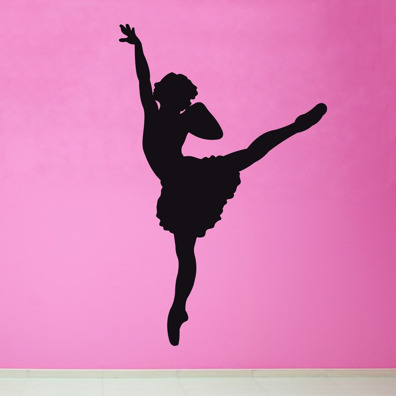 Items similar to Ballerina Silhouette Girl Vinyl Wall Art ...