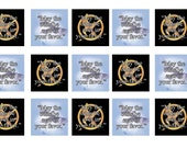 Hunger Games Trilogy: May the Odds 1 inch squares good for glass tiles