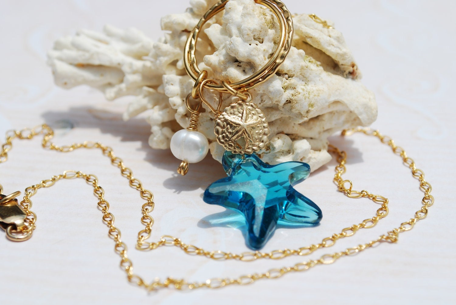 starfish necklace swarovski starfish necklace by