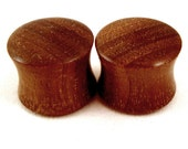 "Walnut Wooden Plugs - PAIR - 2g (6mm) to 1 3/4"" (44mm) including 0g (8mm) 00g (9mm) (10mm) 7/16"" (11mm) 1/2"" 9/16"" 5/8"" 3/4"" 7/8"" ear gauges"