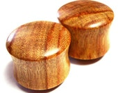 """Canary Wooden Plugs PAIR 2g (6.5mm) through 1 3/4"""" (44mm) including 0g (8mm) 00g (9mm) (10 mm) 7/16"""" (11mm) 1/2"""" 9/16"""" 5/8"""" Wood Ear Gauges"""
