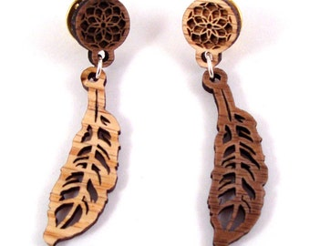 Dream Catcher Pin - Sustainably Harvested Walnut and Oak