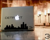 Detroit Skyline Macbook / Vinyl Decal:  Show off your pride in the 313 to all