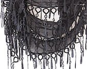 Black Scarf With Lace