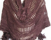 Brown Scarf Or Shawl For Woman, For Gift, Winter Trends, Neckwarmer
