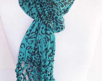Leopard Cotton Scarf, Fashion, For Gift, For Women, Spring Sale