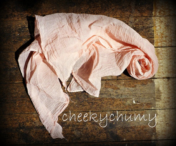 Hand dyed pink cheesecloth newborn baby wrap. Great photography photo prop.