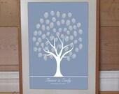 winter wedding fingerprint guestbook tree printable snow leaves diy vintage printable