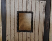 distressed picture frame...great gift idea...wainscote frames...5x7 frame opening