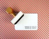 This & That - Rubber Stamp