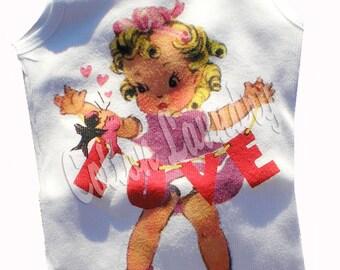 Vintage Childrens tshirt ORIGINAL ....Love for Valentine