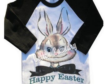 Easter Bunny Raglan baseball style Easter Childrens Raglan Easter Bunny for Boys...
