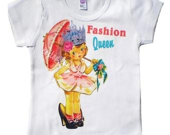 Vintage Childrens tshirt... Fashion Queen