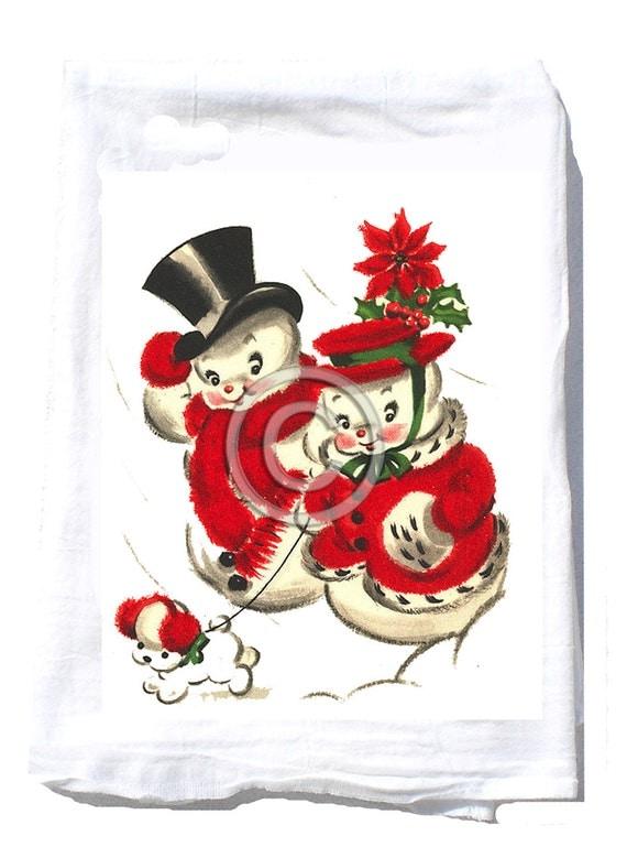 Christmas Gift - Tea Towel -Hostess Gift -Christmas Party Gift - Hostess Kitchen - Teacher Christmas Gift