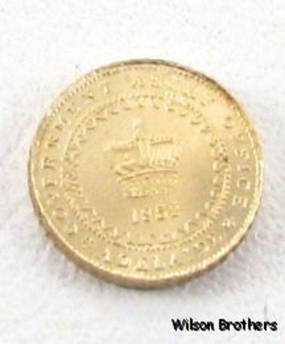 14k Gold Coin Collectible - Australia - One Pound 1852 Replica