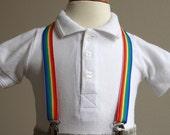Rainbow ribbon adjustable supenders