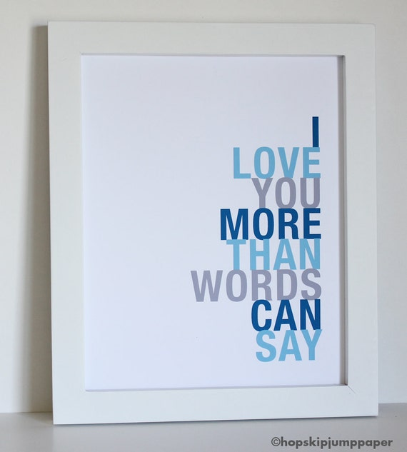 I Love You More Than Quotes: Unavailable Listing On Etsy