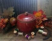 20 oz Acorn Jar - Autumn Red