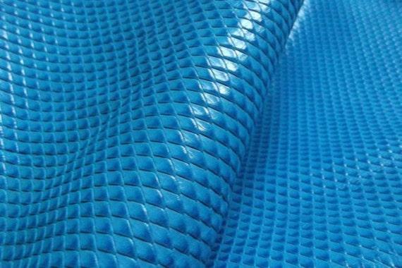 BLUE(9'' x 45 '')Leather Piece  /Genuine leather
