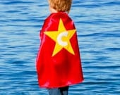 Kids Cape - Red with Yellow Star