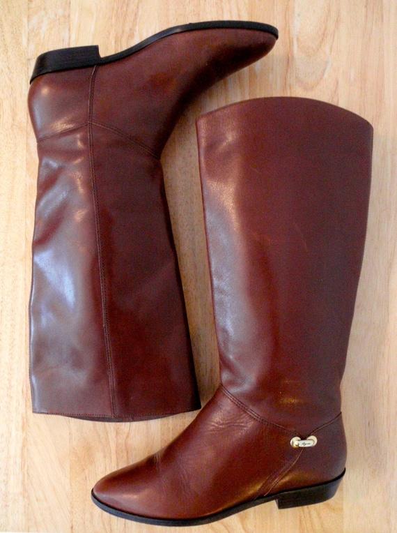 Oxblood Vintage Etienne Aigner Leather Riding Boots