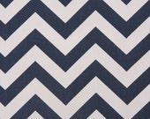 Designer Curtains - Pair of Decorative Designer Custom Curtains Drapes  50 x 108 Navy Blue and White Chevron Zig Zag