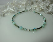 Crystal Whisper Bracelet in Mint Alabaster