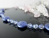 Lavender Lilac Crystal Coin Bracelet