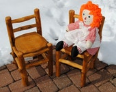 Toddlers Chair -- sustainably made from fallen Aspen Logs