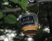 Chalkboard Candle Holder Jars, set of 12 for your Rustic Wedding, Spring Wedding, Summer Wedding, from Naturally Aspen