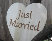 Wood Wedding Sign, Just Married Sign, a photo prop for your Rustic Wedding, Spring Wedding, Summer Wedding, from Naturally Aspen