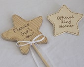 Ring Bearer and Flower Girl Gift, Badge and Wand for your Rustic Wedding, Summer Wedding, a featured piece from Naturally Aspen