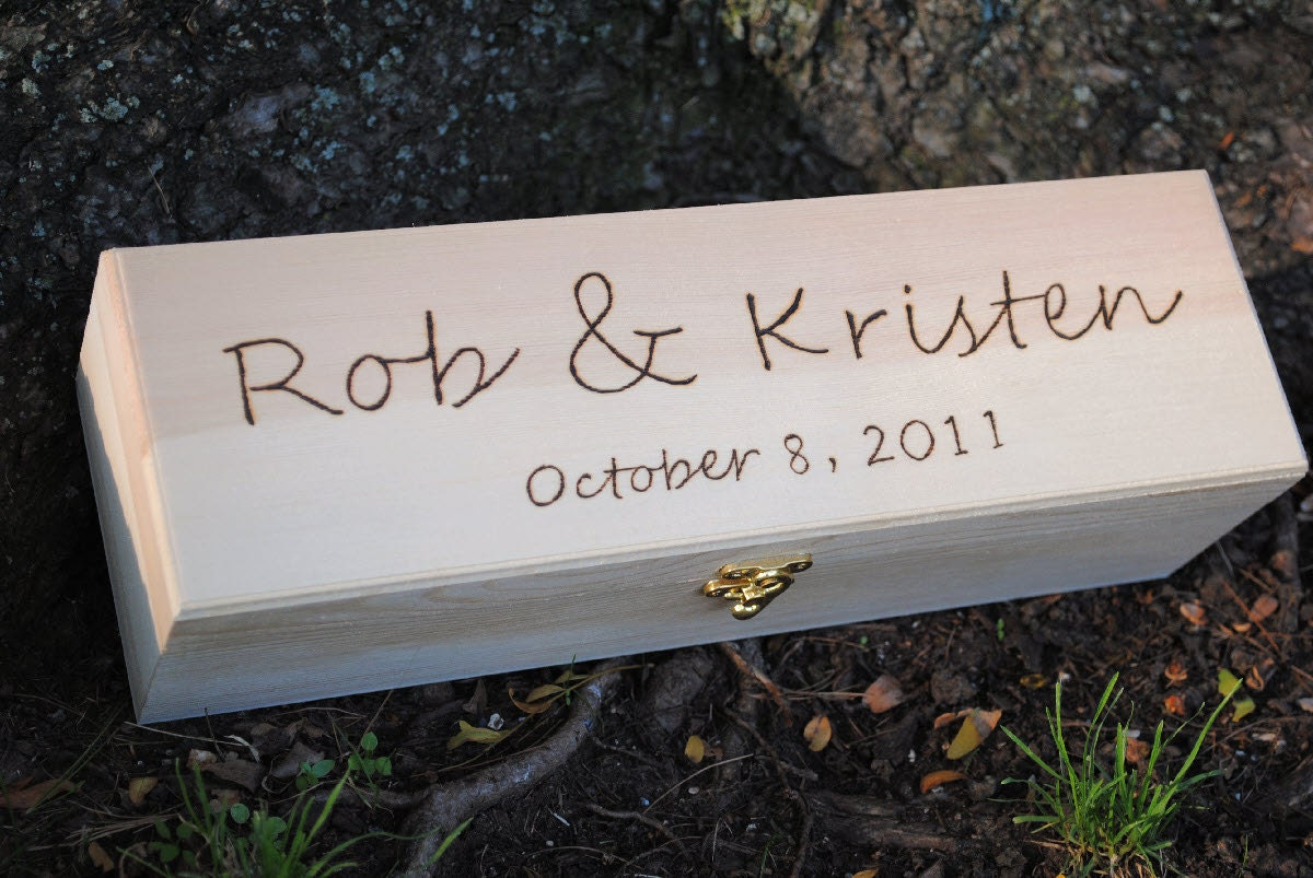 Wedding wine box and love letter ceremony by naturallyaspen for Love letter wedding ceremony