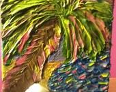 Sunset Palm Tree 4x4 acrylic